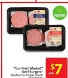 Your Fresh Market Beef Burgers