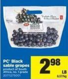 PC Black Sable Grapes