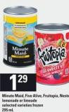 Minute Maid Five Alive - Fruitopia - Nestea - Lemonade Or Limeade - 295 mL