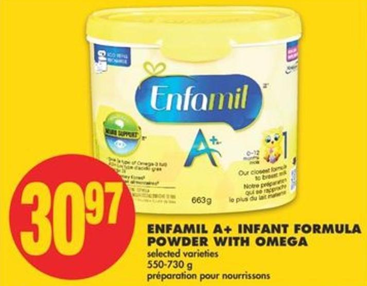 Enfamil A+ Infant Formula Powder With Omega - 550-730 g