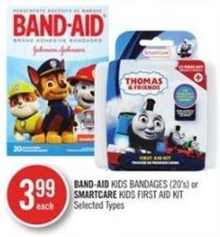 Band-aid Kids Bandage (20s') or Smartcare Kids First Aid Kit