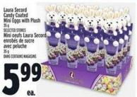 Laura Secord Candy Coated Mini Eggs With Plush 35 g