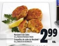 Maryland Crab Cakes 113 g - Frozen Or Previously Frozen