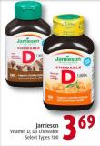 Jamieson Vitamin D - D3 Chewable