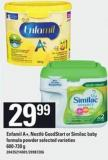 Enfamil A+ - Nestlé Goodstart Or Similac Baby Formula Powder - 600-730 G