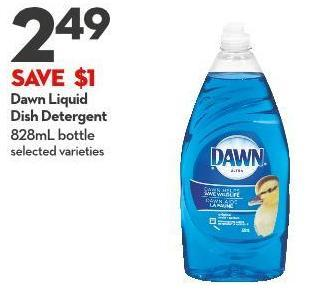 Dawn Liquid  Dish Detergent 828ml Bottle