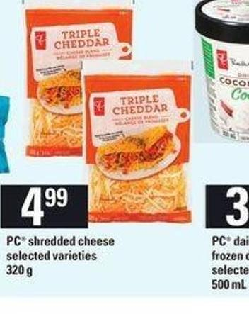 PC Shredded Cheese - 320 g