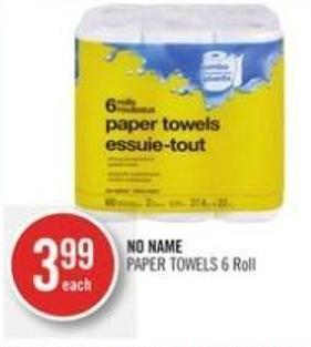 No Name Paper Towels (6 Roll)