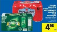 Perrier Sparkling Water - 10x250 Ml Or San Pellegrino Sparkling Fruit Beverages - 6x250 Ml/330 Ml