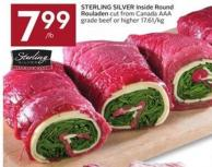 Sterling Silver Inside Round Rouladen Cut From Canada Aaa Grade Beef or Higher 17.61/kg