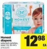 Honest Diapers - Sizes 1-6 - 18-44's