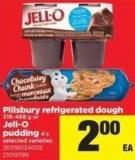 Pillsbury Refrigerated Dough - 318-468 g Or Jell-o Pudding - 4's