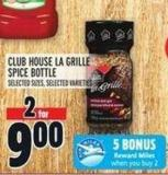 Club House La Grille Spice Bottle