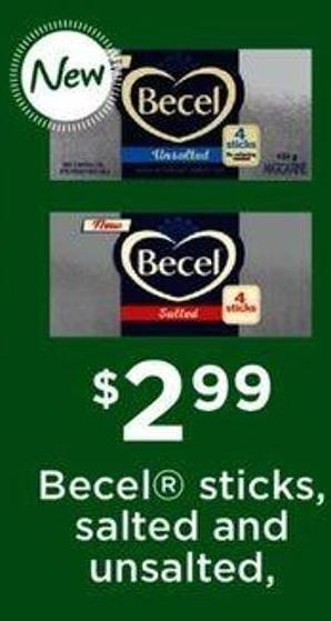 Becel Sticks - Salted And Unsalted