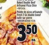 Fresh 2go Stone Baked Double Beef Artisanal Pizza Slice | Pointe De Pizza Artisanale Fresh 2 Go Double Boeuf Cuite Sur Pierre