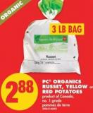 PC Organics Russet - Yellow or Red Potatoes