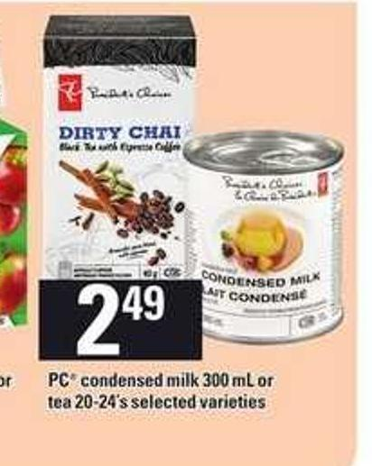 PC Condensed Milk 300 Ml Or Tea 20-24's