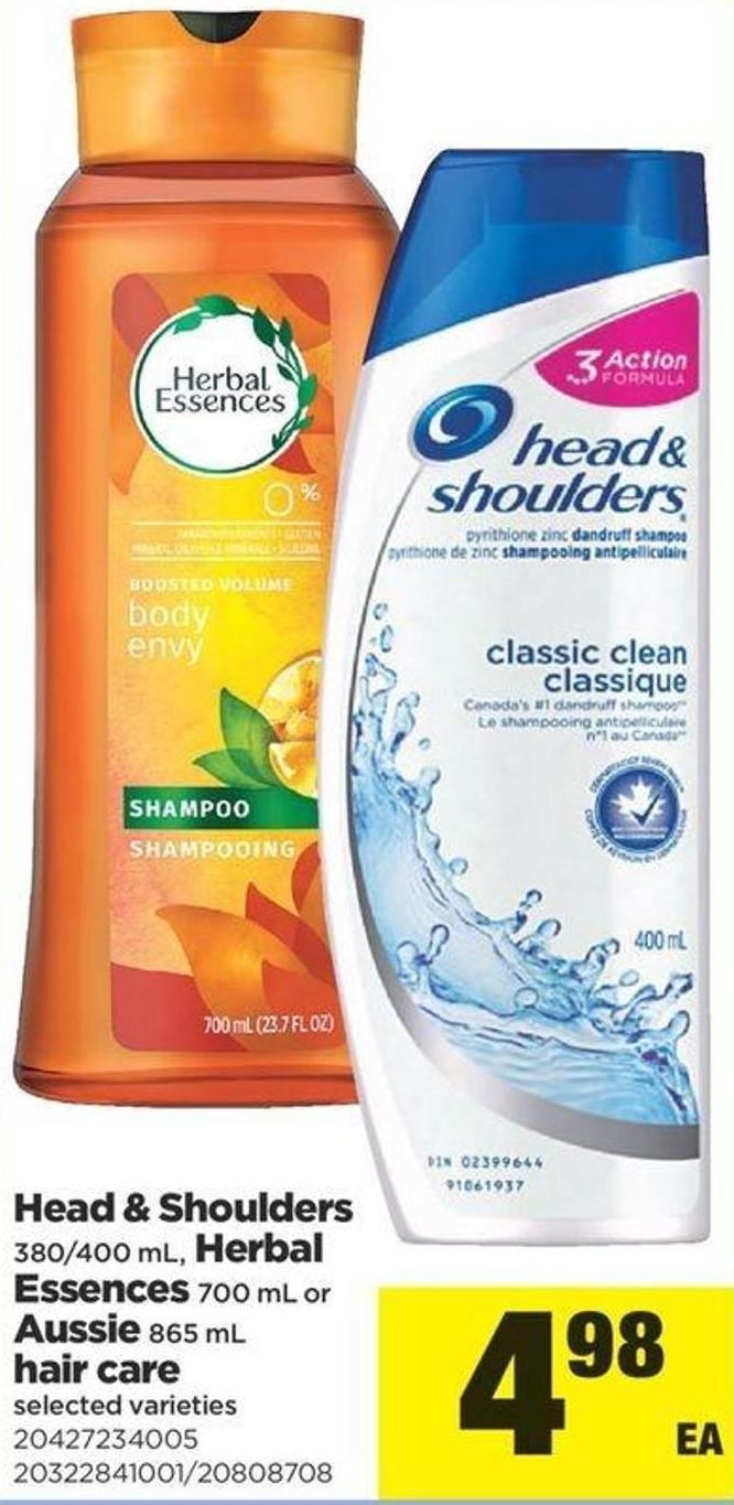 Head & Shoulders - 380/400 Ml - Herbal Essences - 700 Ml Or Aussie - 865 Ml Hair Care