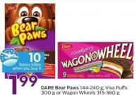 Dare Bear Paws 144-240 g - Viva Puffs 300 g or Wagon Wheels 315-360 g - 10 Air Miles Bonus Miles
