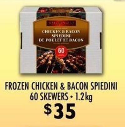 Frozen Chicken & Bacon Spiedini 60 Skewers