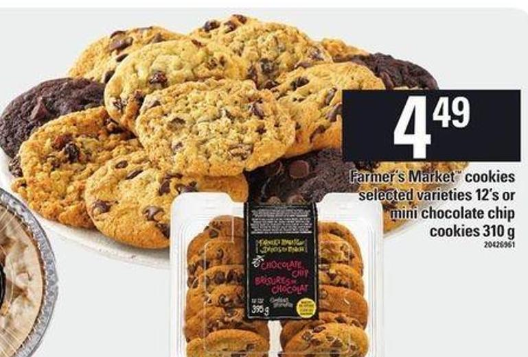 Farmer's Market Cookies Selected Varieties 12's Or Mini Chocolate Chip Cookies 310 g