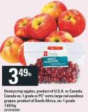 Honeycrisp Apples - Or PC Extra Large Red Seedless Grapes