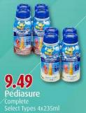 Pediasure Complete Select Types 4x235ml