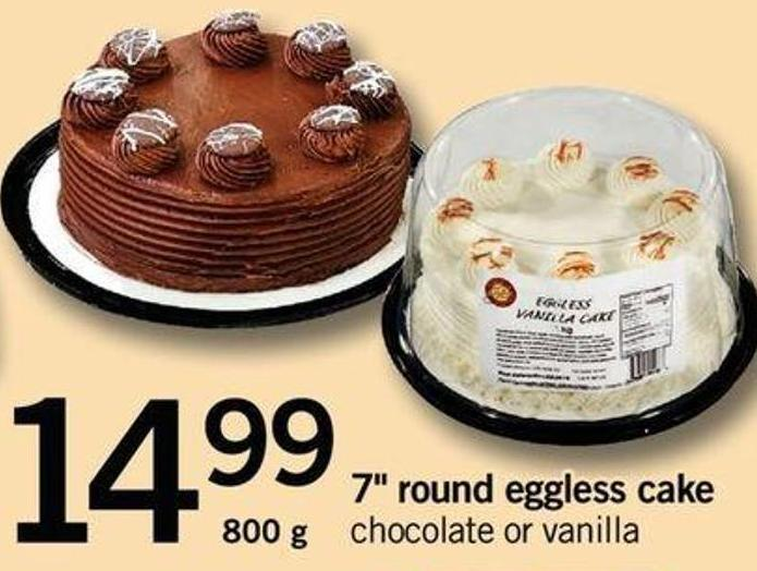7in Round Eggless Cake - 800 G