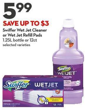 Swiffer Wet Jet Cleaner  or Wet Jet Refill Pads 1.25l Bottle or 12ct
