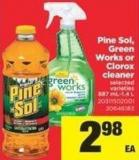 Pine Sol - Green Works Or Clorox Cleaner - 887 Ml-1.4 L