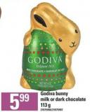 Godiva Bunny Milk Or Dark Chocolate - 113 G