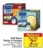 Egg Bakes! Patties or Sausages