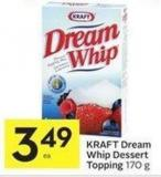 Kraft Dream Whip Dessert Topping 170 g
