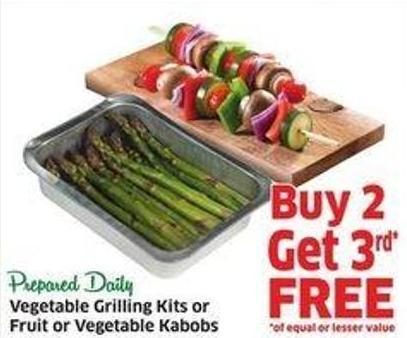 Vegetable Grilling Kits or Fruit or Vegetable Kabobs