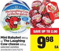 Mini Babybel - 360 G Or The Laughing Cow Cheese - 535 G