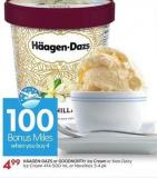 "H""agen-dazs or Goodnorth Ice Cream or Non-dairy Ice Cream 414-500 mL or Novelties 3-4 Pk - 100 Air Miles"
