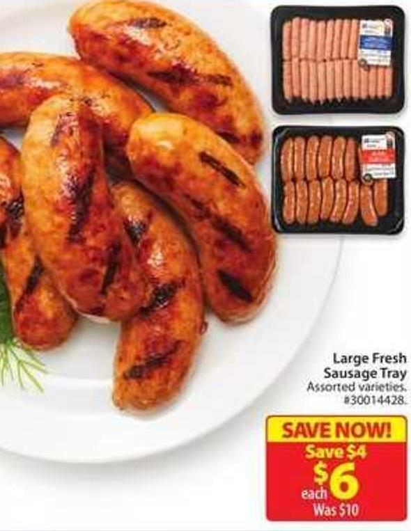 Large Fresh Sausage Tray