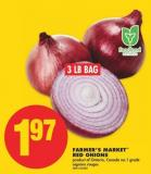 Farmer's Market Red Onions - 3 Lb Bag