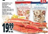 Aqua Star Cooked Shrimp 26 - 30 Size Raw Shrimp 16 - 20 Size 908 G - King Crab Legs Frozen - 19.99/lb - 4.41/100 G