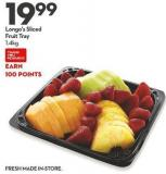 Longo's Sliced  Fruit Tray