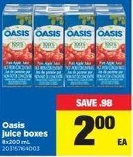 Oasis Juice Boxes - 8x200 Ml