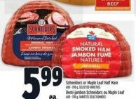 Schneiders Or Maple Leaf Half Ham