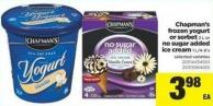 Chapman's Frozen Yogurt Or Sorbet 2 L Or No Sugar Added Ice Cream 1 L/4-6's
