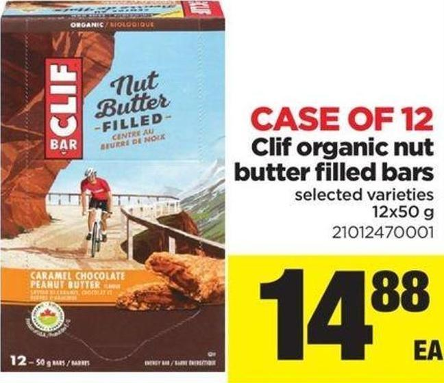Case Of 12 Clif Organic Nut Butter Filled Bars - 12x50 g