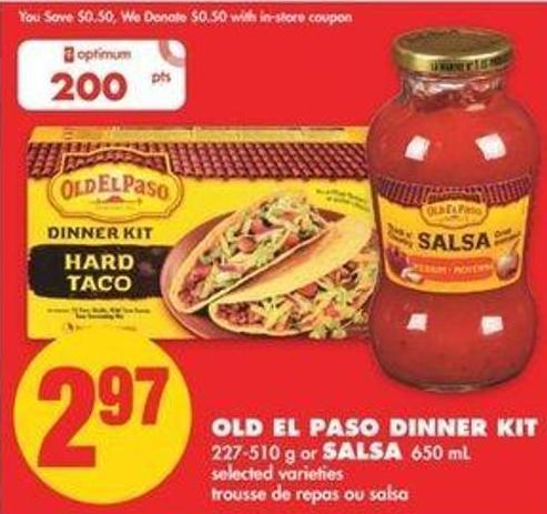 Old El Paso Dinner Kit - 227-510 G Or Salsa - 650 Ml