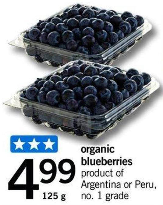 Organic Blueberries - 125 G