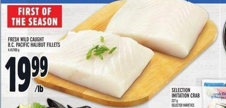 Fresh Wild Caught B.c. Pacific Halibut Fillets