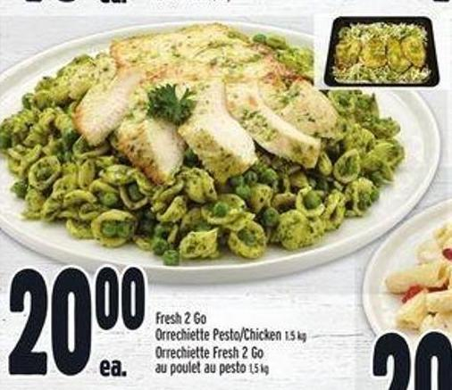 Fresh 2 Go Orrechiette Pesto/chicken