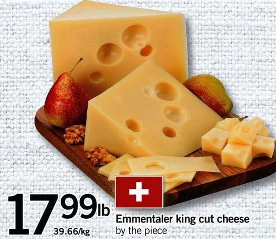 Emmentaler King Cut Cheese