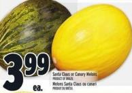 Santa Claus or Canary Melons Product of Brazil